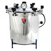 "Aluminium Mirror Finish Six Wing Nut Electric Vertical Autoclave Size Approx. (21 Litres 12"" X 12"" inches) with Warranty"