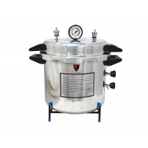 """Aluminium Mirror Finish Deluxe Quality Electric Autoclave Pressure Cooker Type (12"""" X 12"""") 23 Litres with Warranty"""