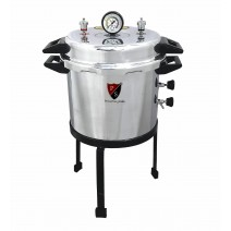 "Aluminium Mirror Finish Deluxe Quality Non-Electric Autoclave Pressure Cooker Type (12"" X 12"") 23 Litres with Warranty"