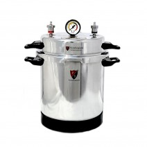 "Aluminium Mirror Finish Electric Autoclave Pressure Cooker Type with Dressing Drum (9"" X 11"") 13 Litres with Warranty"