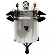 "Aluminium Mirror Finish Electric Autoclave Pressure Cooker Type (9"" X 11"") 13 Litres with Warranty"