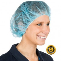 Unisex Disposable Bouffant Cap Regular Size • Blue Color • 100 Pcs