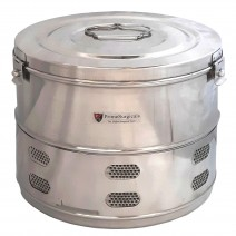 """Dressing Drum - Deluxe Quality Stainless Steel - 11"""" x 9"""""""