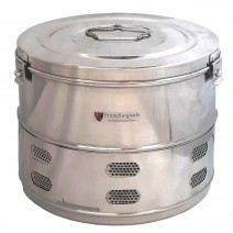 """Dressing Drum - Deluxe Quality Stainless Steel - 15"""" x 12"""" inches"""