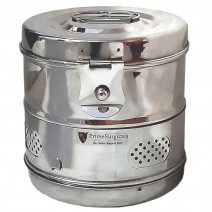 """Dressing Drum - Deluxe Quality Stainless Steel - 6"""" x 6"""""""