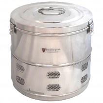 """Dressing Drum - Deluxe Quality Stainless Steel - 8"""" x 8"""""""