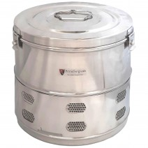"""Dressing Drum - Deluxe Quality Stainless Steel - 9"""" x 9"""""""