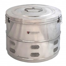 """Dressing Drum - Economy Quality Stainless Steel - 11"""" x 9"""""""