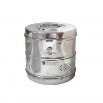 """Dressing Drum - Economy Quality Stainless Steel - 6"""" x 6"""" inch"""