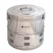 """Dressing Drum - Economy Quality Stainless Steel - 8"""" x 8"""""""