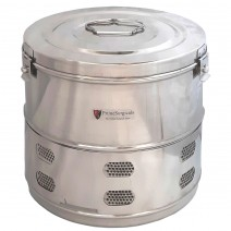"""Dressing Drum - Economy Quality Stainless Steel - 9"""" x 9"""""""