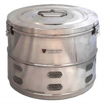 """Dressing Drum - Premium Quality Stainless Steel Size 15"""" x 12"""" inches - Jointless/Seamless"""