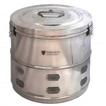 "Dressing Drum - Premium Quality Stainless Steel - 9"" x 9"""