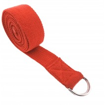 "Cotton Yoga Belt - 8 Feet Length - 1.5"" Width - For Safe, Perfect & Challenging Yoga Posture - Color As per Availability"
