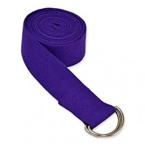 """Cotton Yoga Belt - 8 Feet Length - 1.5"""" Width - For Safe, Perfect & Challenging Yoga Posture - Color As per Availability"""