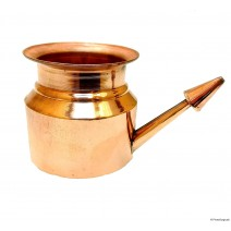 Copper Jal Neti Pot with 25 Sachets of Salt