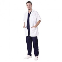 Unisex Half Sleeves Lab Apron with 2 Pocket
