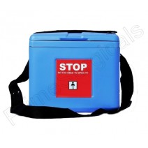 Premium Small Vaccine Carrier • Capacity .80 Ltrs. with 2 Ice packs